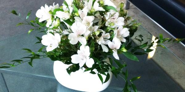 Blumenstrauß weiß-grün