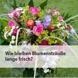 Wie bleiben Blumensträuße lange frisch?
